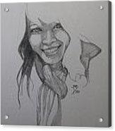 Sketch For Kim Acrylic Print