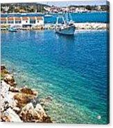 Skiathos Harbour Acrylic Print