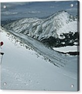 Skier Phil Atkinson Begins His Descent Acrylic Print