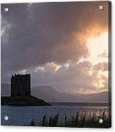 Skies Ablaze At Castle Stalker Acrylic Print
