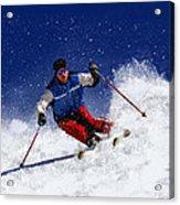 Skiing Down The Mountain Acrylic Print
