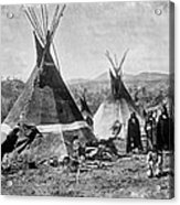 Skin Tepees, Shoshone Indians. Ca Acrylic Print by Everett