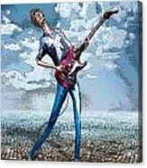 Skinny Guitar Acrylic Print