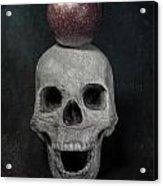 Skull And Apple Acrylic Print by Joana Kruse