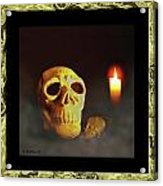 Skull And Candle Acrylic Print