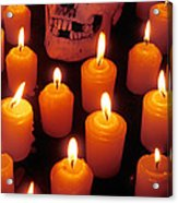 Skull And Candles Acrylic Print