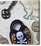 Skull And Cross Bones Lock Acrylic Print
