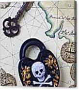 Skull And Cross Bones Lock Acrylic Print by Garry Gay