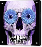 Skull Art - Day Of The Dead 3 Acrylic Print