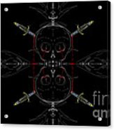 Skulls And Daggers Acrylic Print