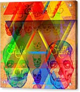Skulls And Skulls Acrylic Print by Kenal Louis
