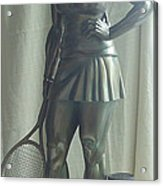 Skupture Tennis Player Acrylic Print