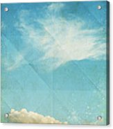 Sky And Cloud On Old Grunge Paper Acrylic Print by Setsiri Silapasuwanchai