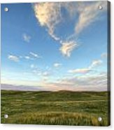 Sky At Sunset, Grasslands National Acrylic Print