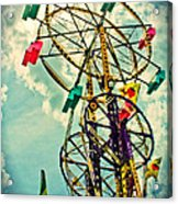 Sky Wheel Carnival Ride Acrylic Print