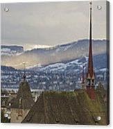 Skyline Of Zurich From The University Acrylic Print