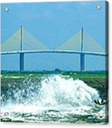 Skyway Splash Acrylic Print by David Lee Thompson