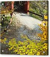 Slaughter House Bridge And Fall Colors Acrylic Print