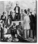 Slavery Auction, In The United States Acrylic Print
