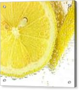 Sliced Lemon In Fizzy Water Acrylic Print