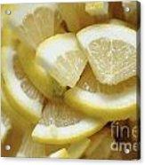 Slices Of Lemon Acrylic Print