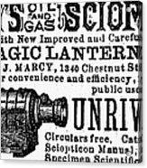 Slide Projector Ad, 1878 Acrylic Print