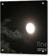 Slithering Moonlit Clouds Acrylic Print