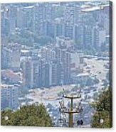 Sliven Bulgaria From Chair Lift Acrylic Print