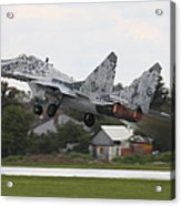 Slovak Air Force Mig-29 Fulcrum Taking Acrylic Print