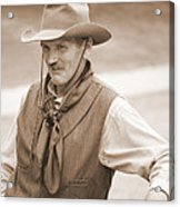 Sly Cowboy Acrylic Print