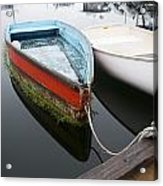 Small Boat In Harbor Acrylic Print