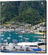 Small Idyllic Yacht Harbor  Acrylic Print
