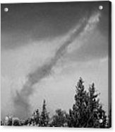 Small Tornado Blowing Out In Countryside Of The Republic Of Cyprus Europe Acrylic Print