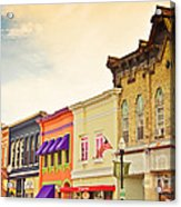Small Town Colors Acrylic Print by Christina Klausen