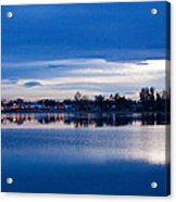 Small Town Reflections Acrylic Print