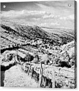 Small Twisty Narrow Country Mountain Road Through Glendun Scenic Route Glendun County Antrim Acrylic Print by Joe Fox