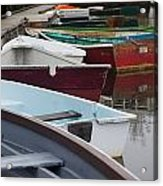 Small Wooden Boats Acrylic Print