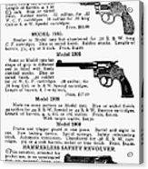 Smith & Wesson Revolvers Acrylic Print