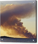 Smoke From A Wildfire Billows Acrylic Print