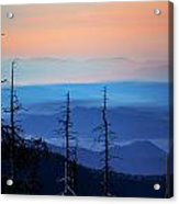 Smokey Mountain Sunset As Seen From Clingman's Dome Acrylic Print
