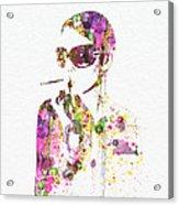 Smoking In The Sun Acrylic Print by Naxart Studio