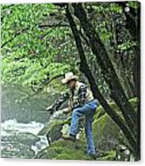 Smoky Mountain Angler Acrylic Print
