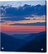 Smoky Mtn Sunset Acrylic Print