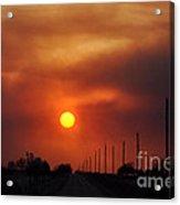 Smoky Sun2 Acrylic Print