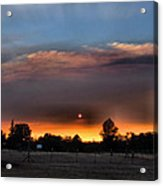 Smoky Sunset Wide Angle 08 27 12 Acrylic Print