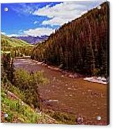 Snake River And Rafters Acrylic Print