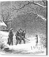 Snaring Rabbits, 1867 Acrylic Print