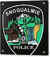 Snoqualmie Police Acrylic Print