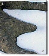 Snow Abstract Acrylic Print
