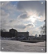 Snow At The Art Museum - Philadelphia Acrylic Print